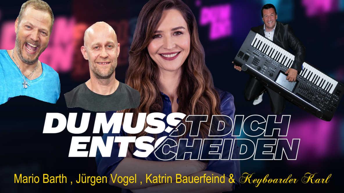Keyboarder Karl & Mario Barth - Jürgen Vogel und Katrin Bauerfeind